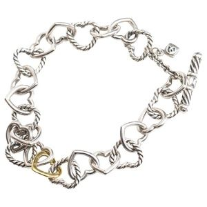 David Yurman Sterling Silver and 18 Karat Gold Cab